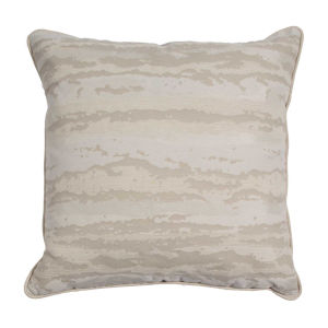 Birch Snow 22 x 22 Inch Pillow with Mohave Welt