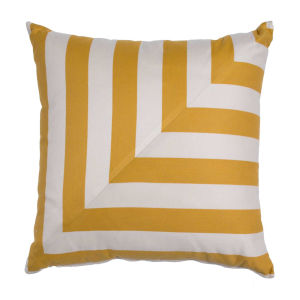 Halo Mustard 22 x 22 Inch L-Stripe Pillow with Knife Edge