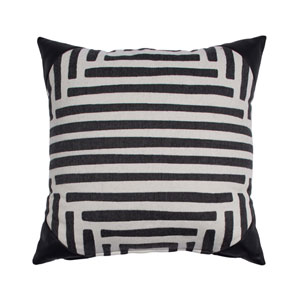 Kubu 22-Inch Midnight Throw Pillow