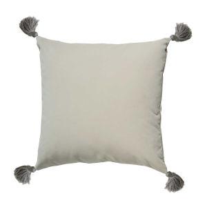 Almond Velvet 22 x 22 Inch Pillow with Black Bullion