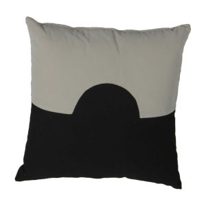 Eclipse Almond and Midnight 22 x 22 Inch Pillow with Knife Edge