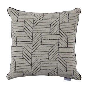Thisbee Midnight 22 x 22 Inch Pillow with Linen Welt
