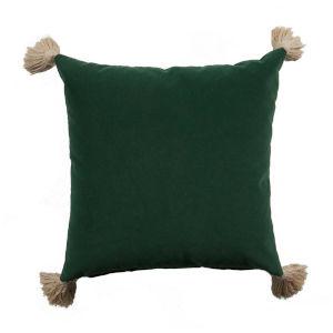 Mallard Dark Velvet and Almod 22 x 22 Inch Pillow With Tassel
