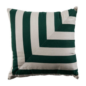 Halo Mallard and Almond 22 x 22 Inch L-Stripe Pillow with Knife Edge