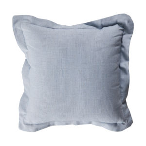 Chambray and Snow 22 x 22 Inch Pillow with Linen Double Flange