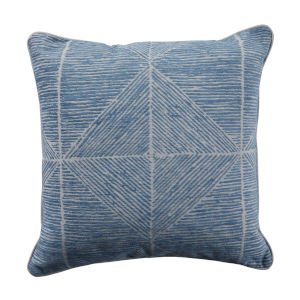 Mandla Chambray and Stone 22 x 22 Inch Pillow with Welt