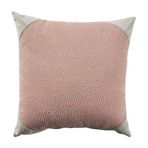Blush and Almond 22 x 22 Inch Pillow with Velvet Corner Cap