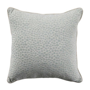Cheetah Mist Velvet 22 x 22 Inch Pillow with Linen Welt