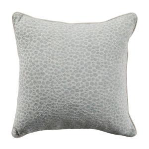 Cheetah Mist Velvet 22 x 22 Inch Pillow with Linen Welt
