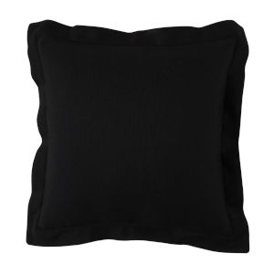 Midnight 22 x 22 Inch Pillow with Linen Double Flange