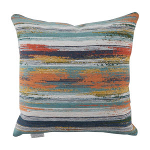 Cray Cray Mist and Chambray Velvet 22 x 22 Inch Pillow