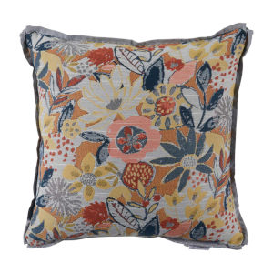 Garden Mustard and Chambray 22 x 22 Inch Pillow with Lure Welt
