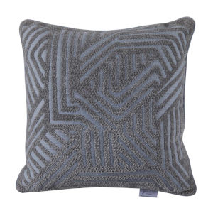 Grooves Chambray 22 x 22 Inch Pillow
