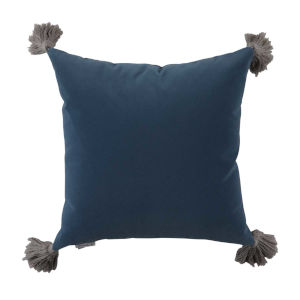 Chambray Velvet 22 x 22 Inch Pillow with Tassel