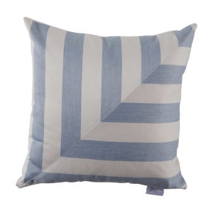 Halo Chambray 22 x 22 Inch L-Stripe Pillow with Knife Edge