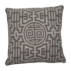 Nobu Stone and Pewter 24 x 24 Inch Pillow with Welt