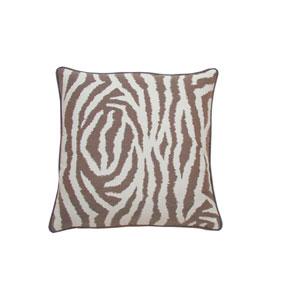 Zebra 24-Inch Almond Throw Pillow