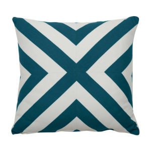 Halo Reef 24 x 24 Inch X-Stripe Pillow with Knife Edge