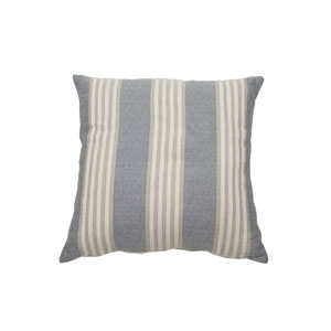 Bradford Stripe 24-Inch Almond and Pewter Throw Pillow