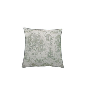 Osaka Toile 24-Inch Mist Throw Pillow