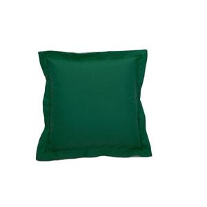 Linen Emerald Throw Pillow