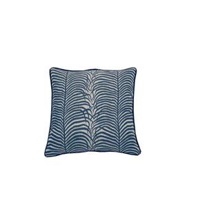 Summer Sulu 24-Inch Indigo Throw Pillow