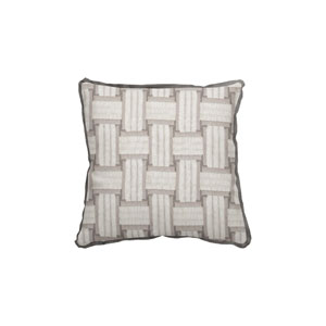 Arcade 24-Inch Pewter Throw Pillow