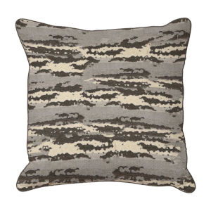 Birch Almond and Dove 24 x 24 Inch Pillow with Mohave Welt