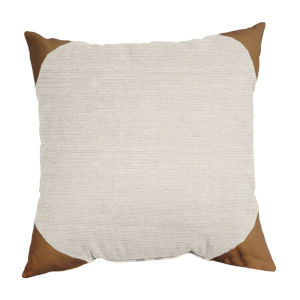 Boucle Shimmer Salt and Waylan 24 x 24 Inch Pillow with Corner Cap