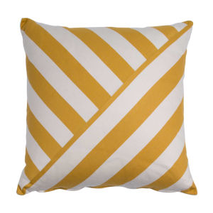 Halo Mustard 24 x 24 Inch T-Stripe Pillow with Knife Edge