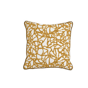 Surge 24-Inch Mustard Throw Pillow