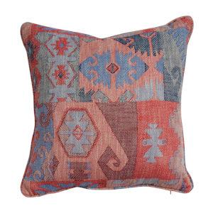 Kilim Cajun and Almond 24 x 24 Inch Pillow