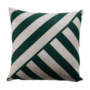 Halo Mallard and Almond 24 x 24 Inch T-Stripe Pillow with Knife Edge