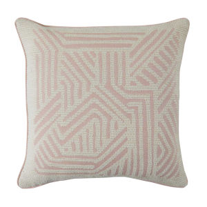 Grooves Blush 24 x 24 Inch Pillow