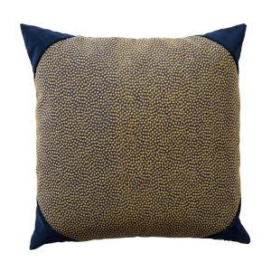 Navy 24 x 24 Inch Pillow with Velvet Corner Cap