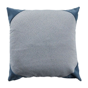 Chambray 24 x 24 Inch Pillow with Velvet Corner Cap