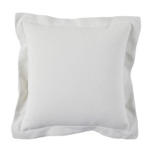Snow 24 x 24 Inch Pillow with Linen Double Flange