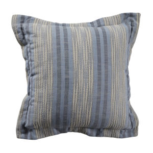 Calmer Chambray and Stone 24 x 24 Inch Pillow with Double Flange
