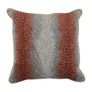 Fawn Terra Cotta and Almond 24 x 24 Inch Pillow with Mohave Welt