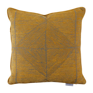 Mandla Mustard 24 x 24 Inch Pillow with Welt