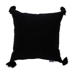 Midnight Velvet 24 x 24 Inch Pillow With Tassel