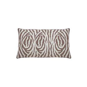 Zebra 24-Inch Almond Printed Throw Pillow