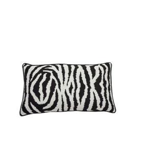Zebra 24-Inch Midnight Throw Pillow