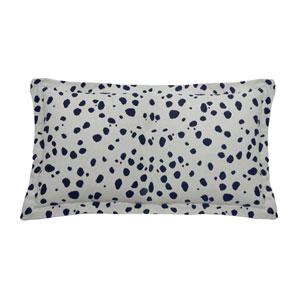 Spotty 24-Inch Indigo Throw Pillow