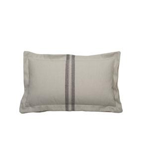 Vintage Stripe 24-Inch Pewter Throw Pillow