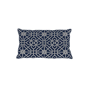 Port Palace 24-Inch Indigo Geometric Throw Pillow