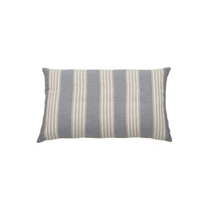 Bradford Stripe 24-Inch Almond and Pewter Rectangle Throw Pillow
