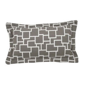 Magnitude 24-Inch Pewter Throw Pillow