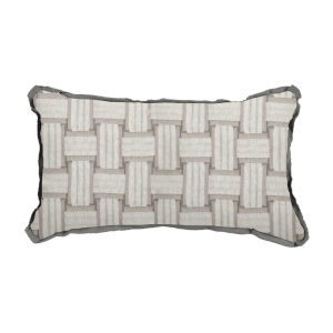 Arcade Pewter 14 x 24 Inch Pillow with Flat Welt