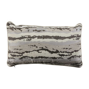 Birch Almond and Dove 14 x 24 Inch Pillow with Mohave Welt